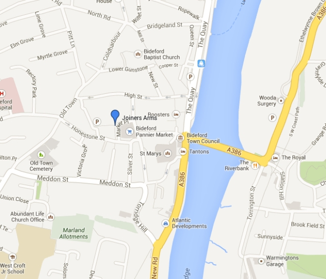 Map of Joiners Arms