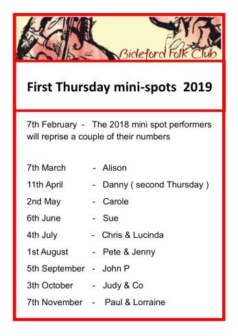First Thursday 2019